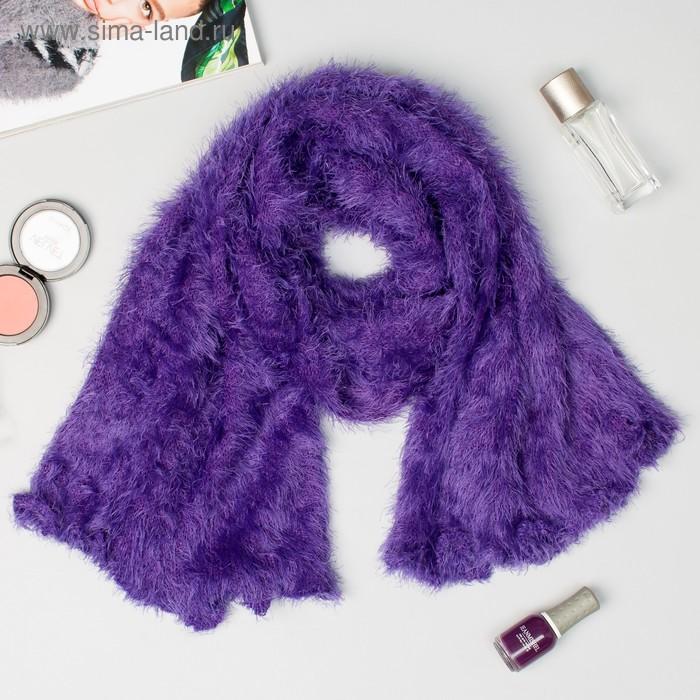Шарф-труба трикотажный, 20*160 см, цвет фиолетовый 26 # V 2397
