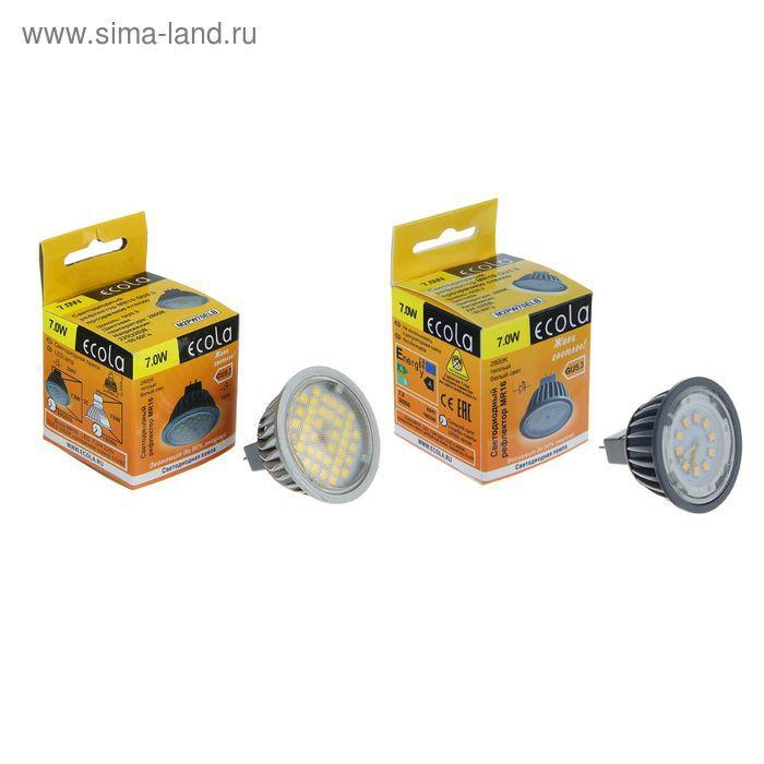 Лампа светодиодная Ecola, GU5.3, 7 Вт, 2800 K, прозрачное стекло