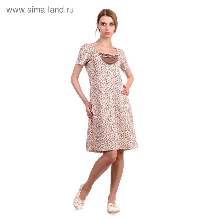 Сорочка женская Вдохновение MK241613/01 экрю, р-р 44 (88) рост 158-164 см