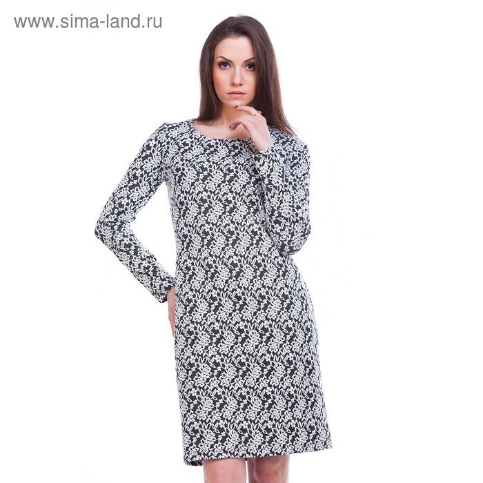 """Платье женское """"Адажио"""", рост 158-164 см, размер 52, цвет серый (арт. MJ242378/01)"""