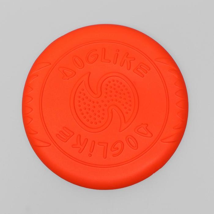 """Летающая тарелка-фрисби """"ДогЛайк"""", 25,5х2,4 см, оранжевая"""