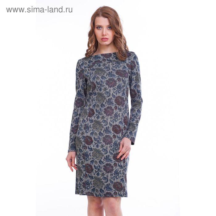 Платье женское Адажио MJ242267/01 серый, р-р 46, рост 158-164 см