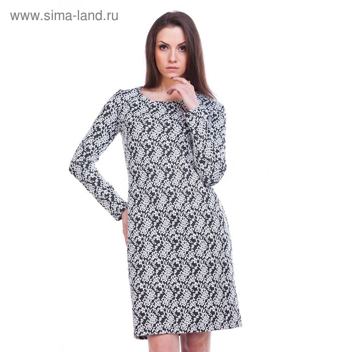 """Платье женское """"Адажио"""", рост 158-164 см, размер 48, цвет серый (арт. MJ242378/01)"""