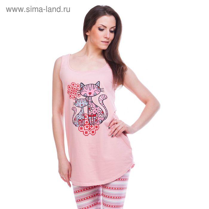 Туника женская Фрея ML242420/01 персиковый, р-р 52 (104)