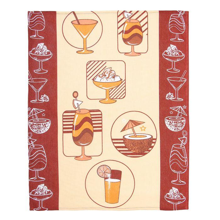 """Полотенце кухонное """"Collorista"""" Коктейль 48*62±2 см, 100% хлопок, рогожка, 162 г/м2"""
