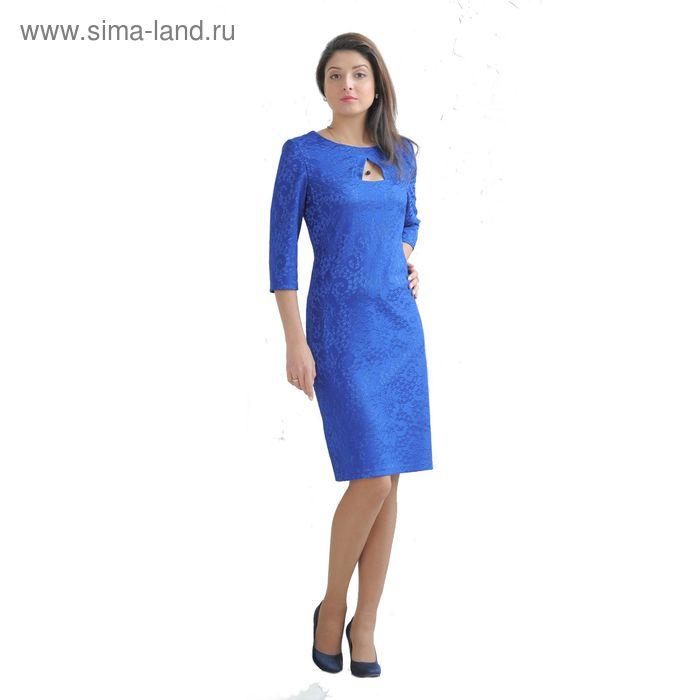 Платье женское 4253б С+, размер 52, цвет синий