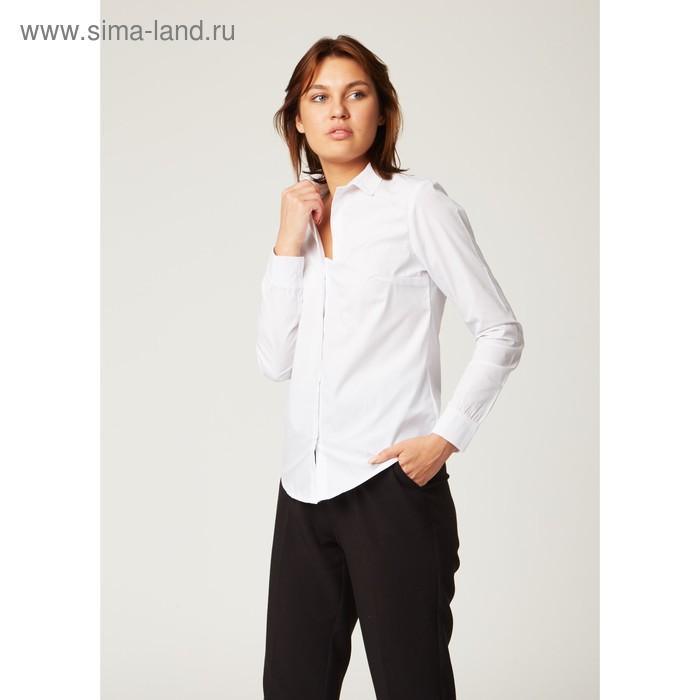Рубашка женская Collorista, размер XXL (52), цвет белый, хлопок 65% + п/э 35%