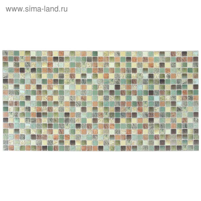 Панель ПВХ Мозаика античность зелёная 955*488