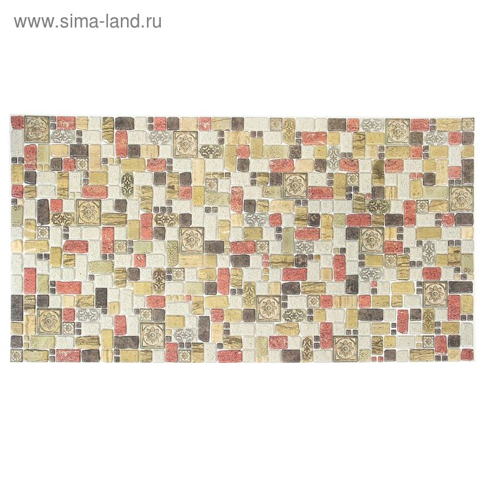 Панель ПВХ Мозаика «Травертин корица» 955*488
