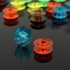Набор шпулек пластиковых, d=2см, 24шт, цвета МИКС