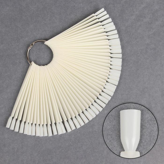 Набор палитр для лаков, 50шт на кольце, цвет слоновой кости