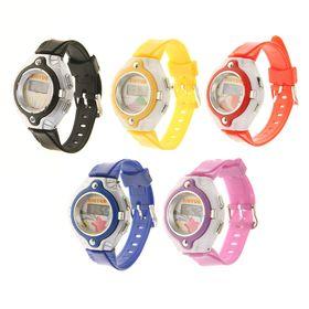 Часы наручные электронные «Гамма», детские, с силиконовым ремешком, циферблат микс Ош