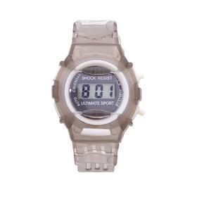 Часы наручные электронные «Прекрасная жизнь», детские, с прозрачным силиконовым ремешком, циферблат микс Ош