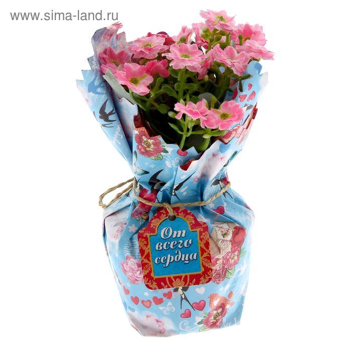 """Цветы в букете """"С любовью"""", 15 х 10 см"""