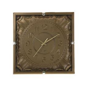 Часы настенные квадратные 'Серия Сумрак. Наплывы', 32 × 32 см, под золото Ош
