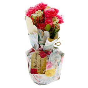 """Цветы в букете """"Любимой мамочке"""", 15 х 10 см"""