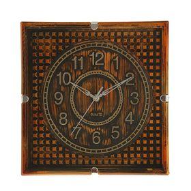 Часы настенные квадратные 'Серия Сумрак. Кубики', 29 × 29 см, рама под состаренное дерево Ош