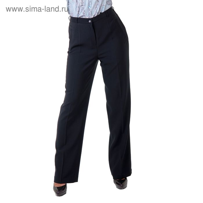 Брюки женские классические 5152251, размер 48, рост 170 см, цвет темно-синий