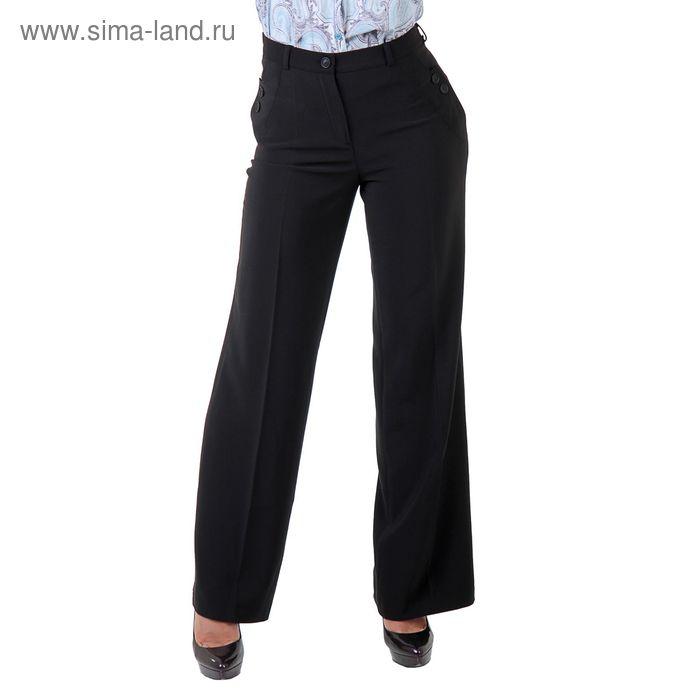 Брюки женские классические 515013, размер 44, рост 170 см, цвет черный
