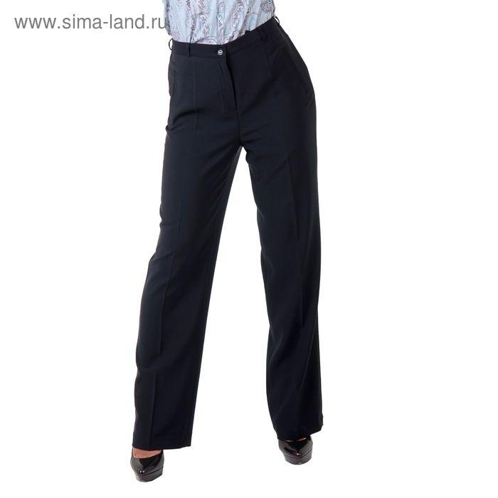 Брюки женские классические 5152251 С+, размер 54, рост 170 см, цвет темно-синий