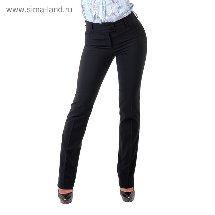 Брюки женские, размер 50, рост 170 см, цвет чёрный (арт. 590080 С+)