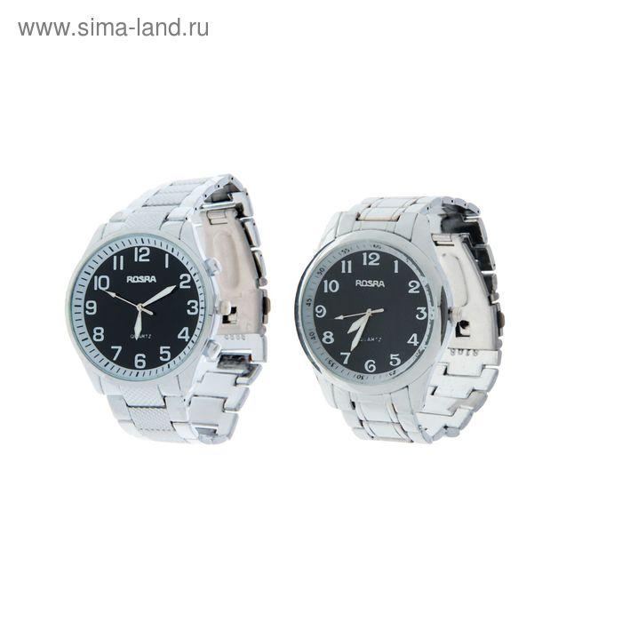 Часы наручные мужские Rosraмод.1 (черный-серебро)  микс