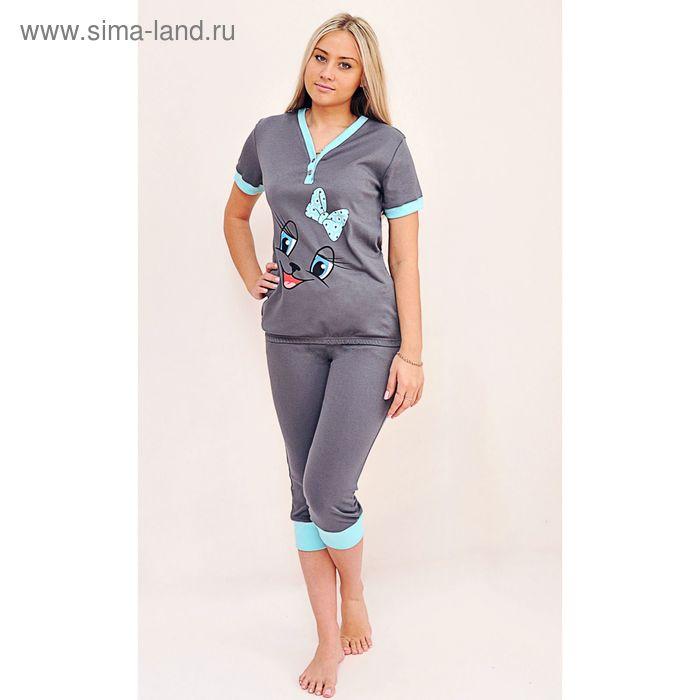 Комплект женский (футболка, бриджи) ТК-500А МИКС, р-р 42