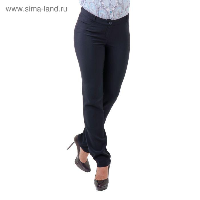 Брюки женские 515279, размер 48, рост 170 см, цвет темно-синий