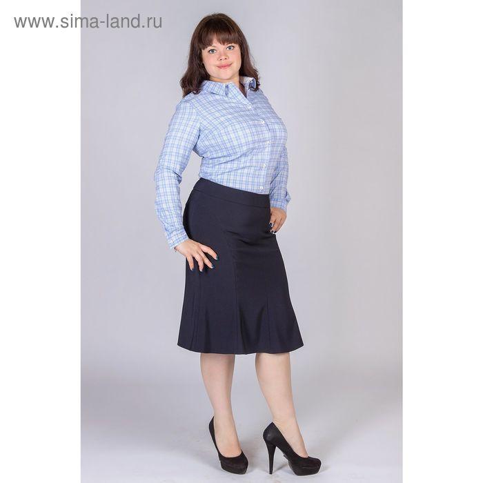 Юбка женская Годэ 5152621 С+, цвет синий, размер 58, рост 170