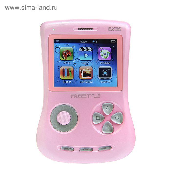 """Игровая приставка FreeStyle 2,7"""", 700 игр, 4 Gb, AVI, MP3, камера, подключение к TВ, розовая  126780"""