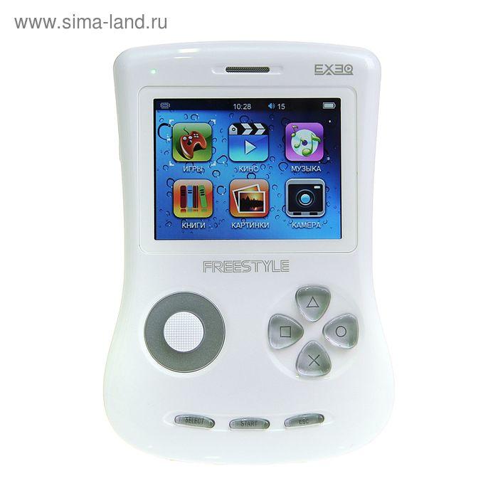 """Игровая приставка FreeStyle 2,7"""", 700 игр, 4 Gb, AVI, MP3, камера, подключение к TВ, белая"""