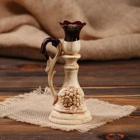 """Подсвечник """"Лотос"""" для одной свечи, лепка"""