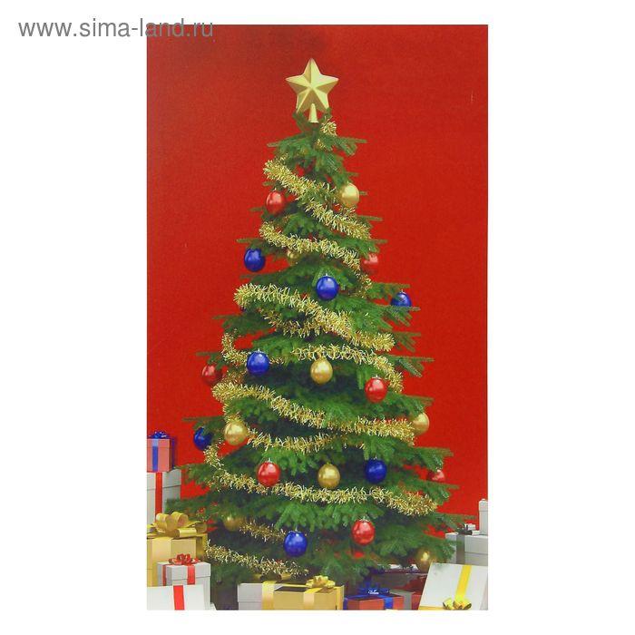 Картина на холсте световая «Подарки у ёлки» 60х100 см