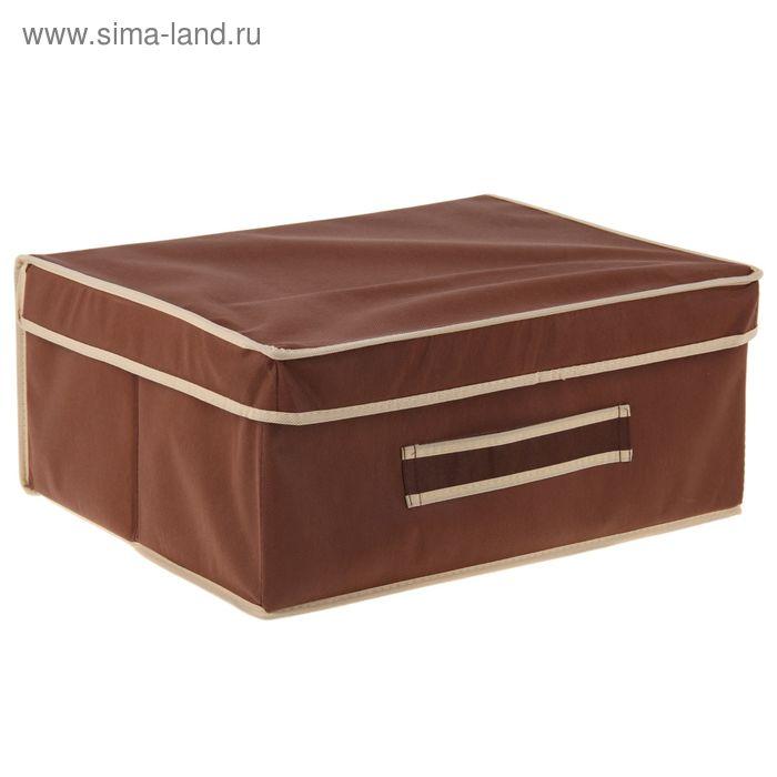 "Короб большой жесткий 45х35х20 см ""Классик"", цвет коричневый"