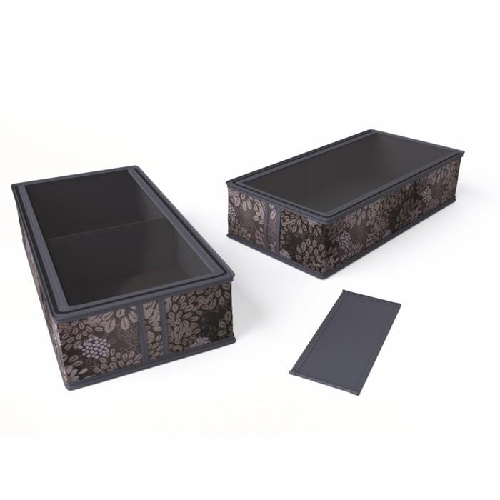 "Короб для сапог и полусапожек 26х52х12 см ""Серебро"""