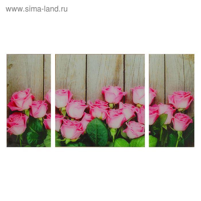 """Модульная картина на стекле """"Розы"""""""