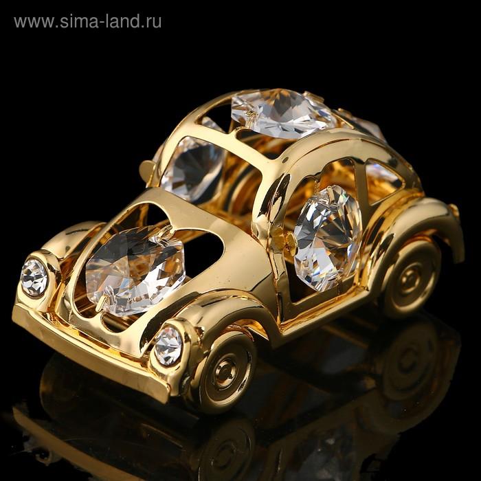 Сувенир  «Автомобиль жук», 6х3х3 см, с кристаллами Сваровски